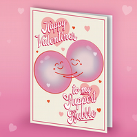 Funny Support Bubble Lockdown Valentine day Card 2021 A6 Card For Him For He