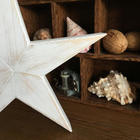 Shabby chic wooden star