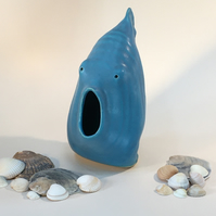 Large Turquoise Fish - the one that's surprised ! Handmade in Letchworth