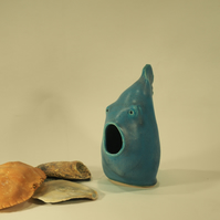 The Pottery Turquoise Fish that had a fright !