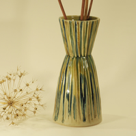 Striped and Grooved vase