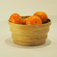Handmade Oatmeal Ceramic Planter with ogee profile sides
