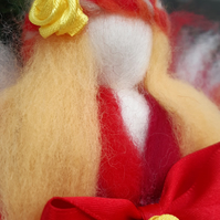 Needle felted fairy doll.