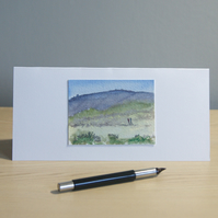 Original Handmade Hand Painted Countryside Landscape DL Greeting Card