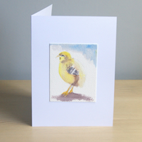 Original Hand Painted Easter Chick 5x7 Greeting Card