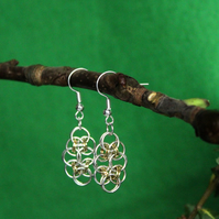 Helm Weave Silver Plated and Gold Plated Earrings.
