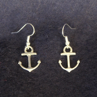 Silver plateded Anchor Earrings