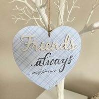 Handmade Friends Hanging Decoration Plaque