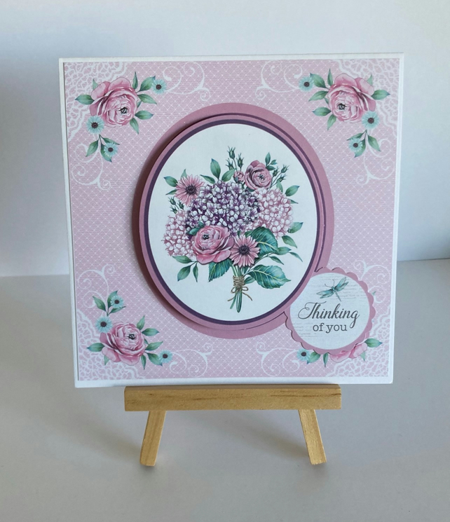 Handmade Thinking of You Card - Floral