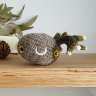 Woolly Pebble Creature - Grey & Green