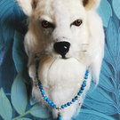 Large 3d Spirit Wolf Fibre Art Wall Sculpture