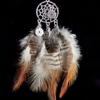 Feather Medicine Dream Catcher necklace OOAK