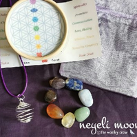 Chakra Gemstone Necklace Set