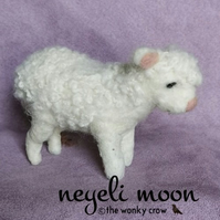 needle felted lamb sheep fibre art sculpture