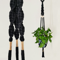 Macrame Plant Hanger (MISTRESS) - Hanging Planter, Pot Holder, Wall Hanging