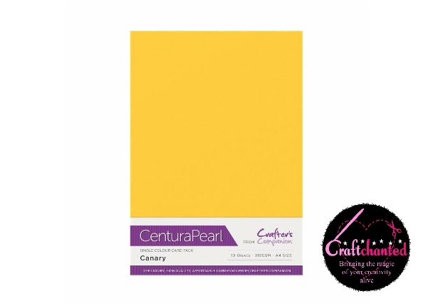Crafter's Companion Centura Pearl - Single Colour - 10 Sheet Pack - Canary