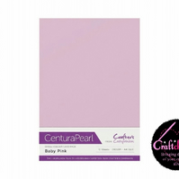 Crafter's Companion Centura - Pearl Single Colour - 10 Sheet Pack - Baby Pink