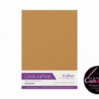 Crafter's Companion Centura Pearl - Single Colour - 10 Sheet Pack - Caramel