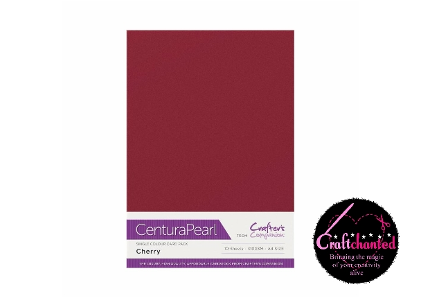 Crafter's Companion Centura Pearl - Single Colour - 10 Sheet Pack - Cherry