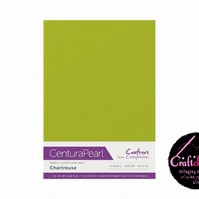 Crafter's Companion Centura Pearl - Single Colour - 10 Sheet Pack - Chartreuse