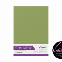 Crafter's Companion Centura Pearl - Single Colour - 10 Sheet Pack - Pistachio