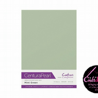 Crafter's Companion Centura Pearl - Single Colour - 10 Sheet Pack - Mint Green
