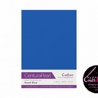 Crafter's Companion Centura - Pearl Single Colour - 10 Sheet Pack - Royal Blue