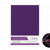 Crafter's Companion Centura Pearl - Single Colour - 10 Sheet Pack - Deep Purple
