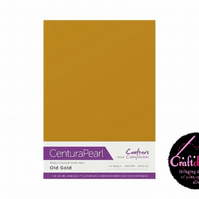 Crafter's Companion Centura Pearl - Single Colour 10 Sheet Pack - Old Gold