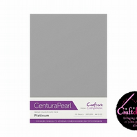 Crafter's Companion Centura Pearl - Single Colour - 10 Sheet Pack - Platinum