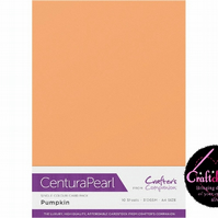 Crafter's Companion Centura Pearl - Single Colour - 10 Sheet Pack - Pumpkin