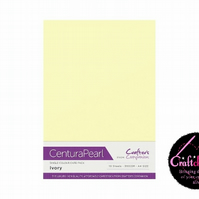Crafter's Companion Centura Pearl 10 Sheet Pack - Ivory