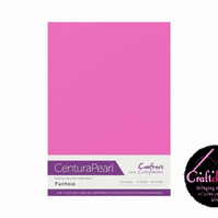Crafter's Companion Centura Pearl 10 Sheet Pack - Fuchsia