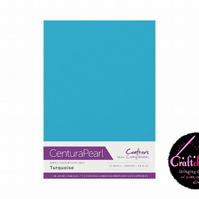 Crafter's Companion Centura Pearl 10 Sheet Pack - Turquoise