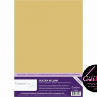 Crafter's Companion Centura Pearl 10 Sheet Pack - Golden Yellow