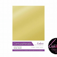 Crafter's Companion - Centura Pearl Metallic - Solar Gold - A4 310gsm 10 Sheets