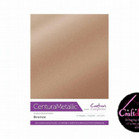 Crafter's Companion - Centura Pearl Metallic - Bronze - A4 310gsm 10 Sheets