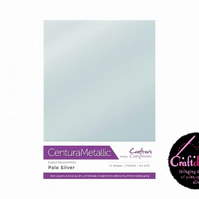 Crafter's Companion - Centura Pearl Metallic - Pale Silver - A4 310gsm 10 Sheets