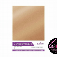 Crafter's Companion - Centura Pearl Metallic - Copper - A4 310gsm 10 Sheets