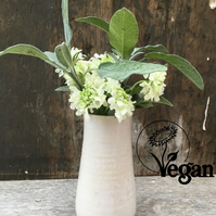 Handmade, ceramic vase - vegan certified. The Jericho Vase
