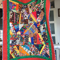 Quilt, crazy patchwork, for child