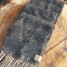Handwoven diamond pattern scarf, wrap in 100% alpaca