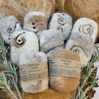 Felted soap - alpaca - eco well-being - self care