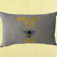 Meant To Bee, Embroidered Decorative Feature Cushion