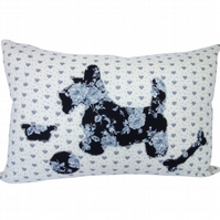 Dog and Toys Cushion, Appliqué Cushion, Feature Cushion, Throw Pillow