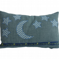 Moon and Stars, Appliqué Feature Cushion, Throw Pillow