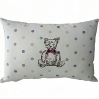 Teddy Bear, Embroidered Decorative Feature Cushion
