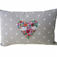 Peace Heart, Embroidered Feature Cushion
