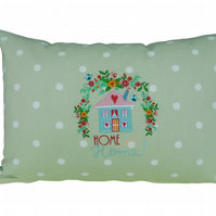 Home Sweet Home, Embroidered Feature Cushion