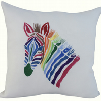 Zebra, Embroidered Feature Cushion